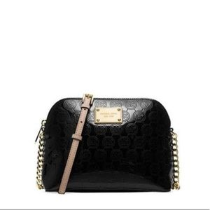 michael kors cindy large embossed crossbody